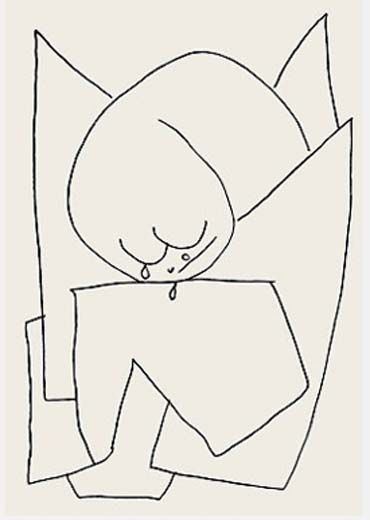 Klee Engel es weint