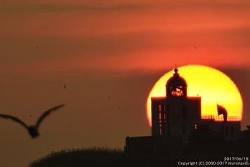 大黒島と夕日2