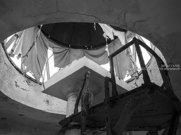 大黒島旧灯台のカーテン