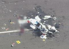 直進の白バイと右折の大型トラック衝突…白バイの男性警察官、死亡 北海道