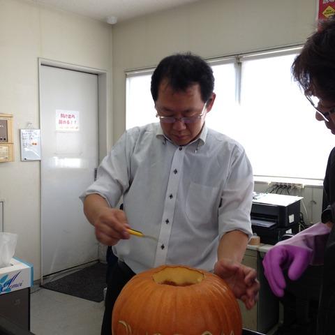 かぼちゃくり抜き8