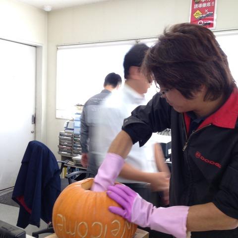 かぼちゃくり抜き9
