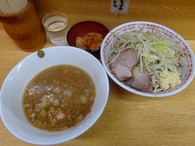 小+つけ麺+ロースのキムチカレー味