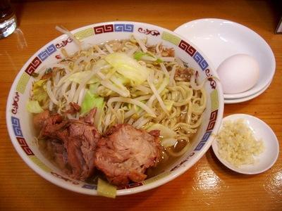 ラーメン+ニンニク+生玉子