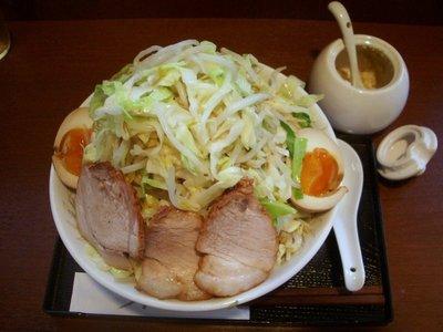 野菜らーめん+煮玉子+ニンニク