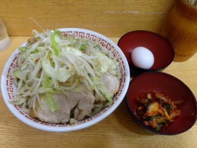 小(スープ抜き)+タマネギキムチ+なまたまご