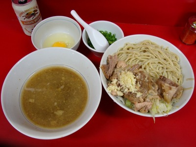 ラーメン+つけ麺+玉子+小ネギ