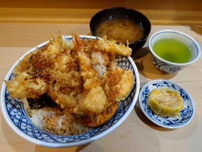 天丼 大盛+おしんこ