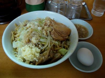汁なしラーメン+生卵