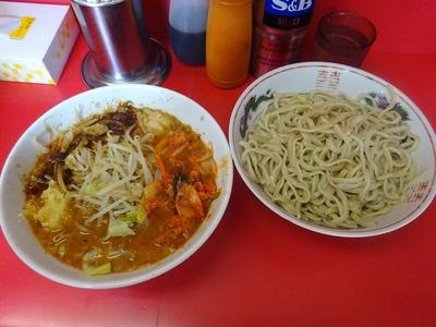 小ラーメン+つけ麺+キムチ