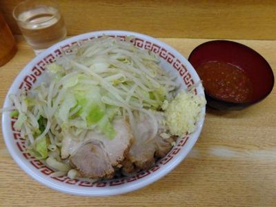 新代田(小ラーメン+冷まし中華+バジルトマト)
