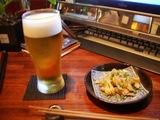 生ビール+鳥皮ポン酢