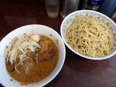 小ラーメン+つけ麺