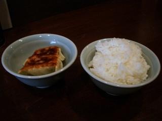 餃子+半ライス