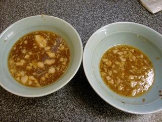 残ったスープの量
