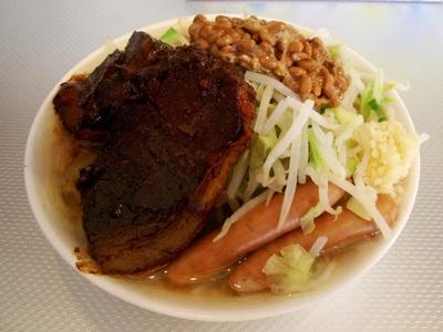 ラーメン(小)+納豆+ウインナー2本