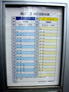 守谷駅西口時刻表