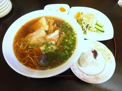 中華そば+味玉+セットメニューB