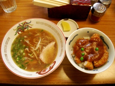 中華そば(小)+カツ丼(小)