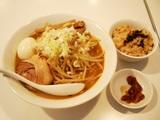 野菜たっぷり味噌らーめん+炊込ご飯
