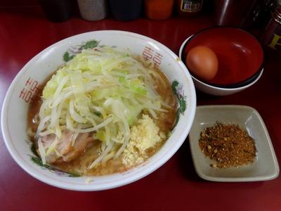 ラーメン+極上生卵+お茶漬け〜麺の粉
