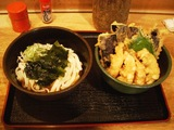 ミニ天丼セット(ひもかわ)+冷し