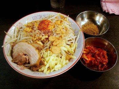 混ラーメン+魚粉+キムチ