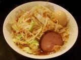 野菜そば(中)+味付玉子