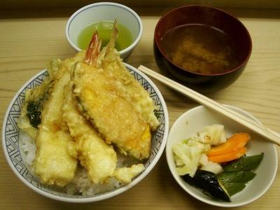 天丼+おしんこ
