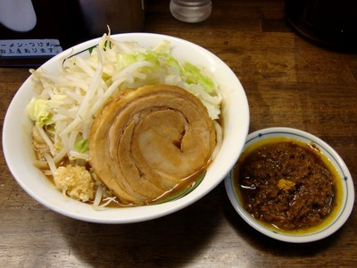 雷そば+カレー(挽き肉)
