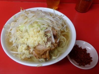 小ラーメン+辛味(別皿)