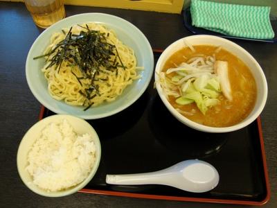 野菜入りつけ麺+半ライス