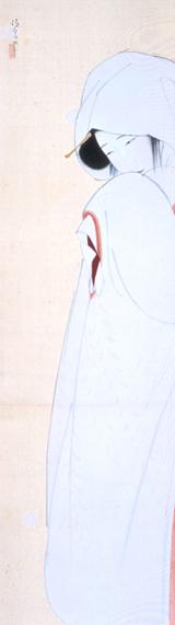 鷺娘(肉筆画)
