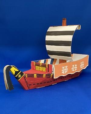 ダンボールの船※色は自分で