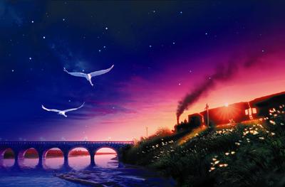 銀河鉄道の夜 投影画像