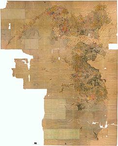宇和島藩領色分絵図 延宝4(1676)年 当館蔵