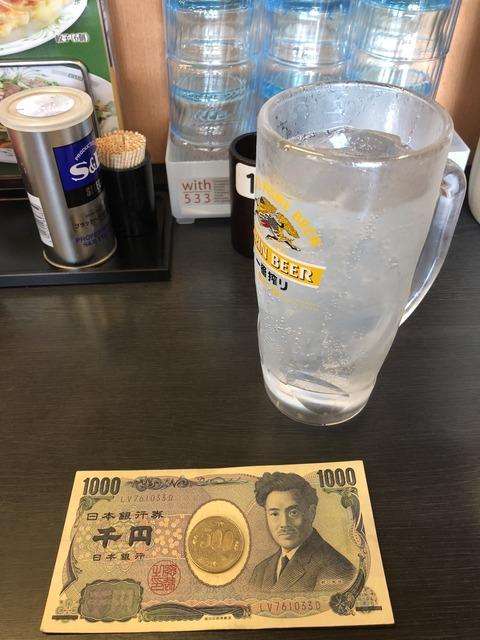1500円でちょい飲み、大食い@日高屋