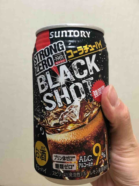 STRONG ZERO BLACK SHOT コーラチューハイ@サントリー