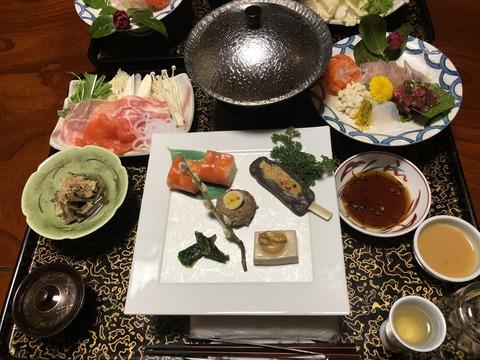 豪華部屋食!@湯宿 梅川荘