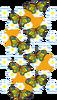 花と蝶々とグルグル(背景透過)