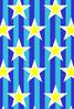 青ストライプと星