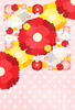 春・卒業の時期・おめでたい・華やか・花デザイン(JPEG)はがきサイズ