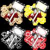 ダサいおっさんのプライスカード4パターンセット(背景透過済み)