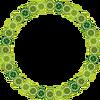 クローバー円形飾り枠(透過)