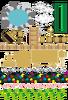 露天風呂温泉・お猪口と徳利・雲・ハンコ・将棋・水道・飾り水平線(背景透過PNG)