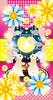 「ハートの月を見る兎のカップル」iPhone5/5s/5c用壁紙(iOS7用744×1392PNG)