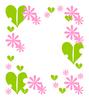花と葉っぱ飾り枠