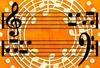 音符円と楽譜