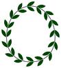 楕円(卵型)を描く葉っぱ