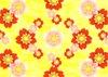 桜赤桃背景黄色